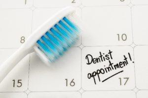 Dentist on calendar to use dental insurance.